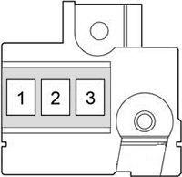 bezpieczniki akumulatora yaris 3